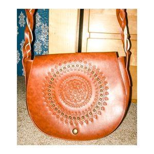 Handbags - Tribal Sunburst: Leather Over the Shoulder Handbag